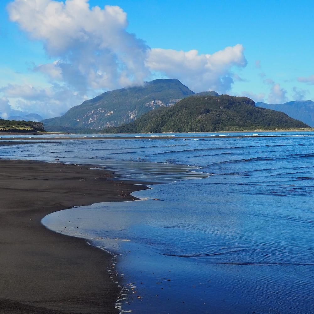 Ocean side of the beach