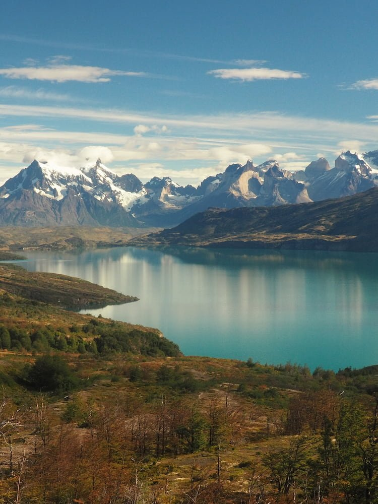 The Cordillera Paine, Torres del Paine National Park, Chile