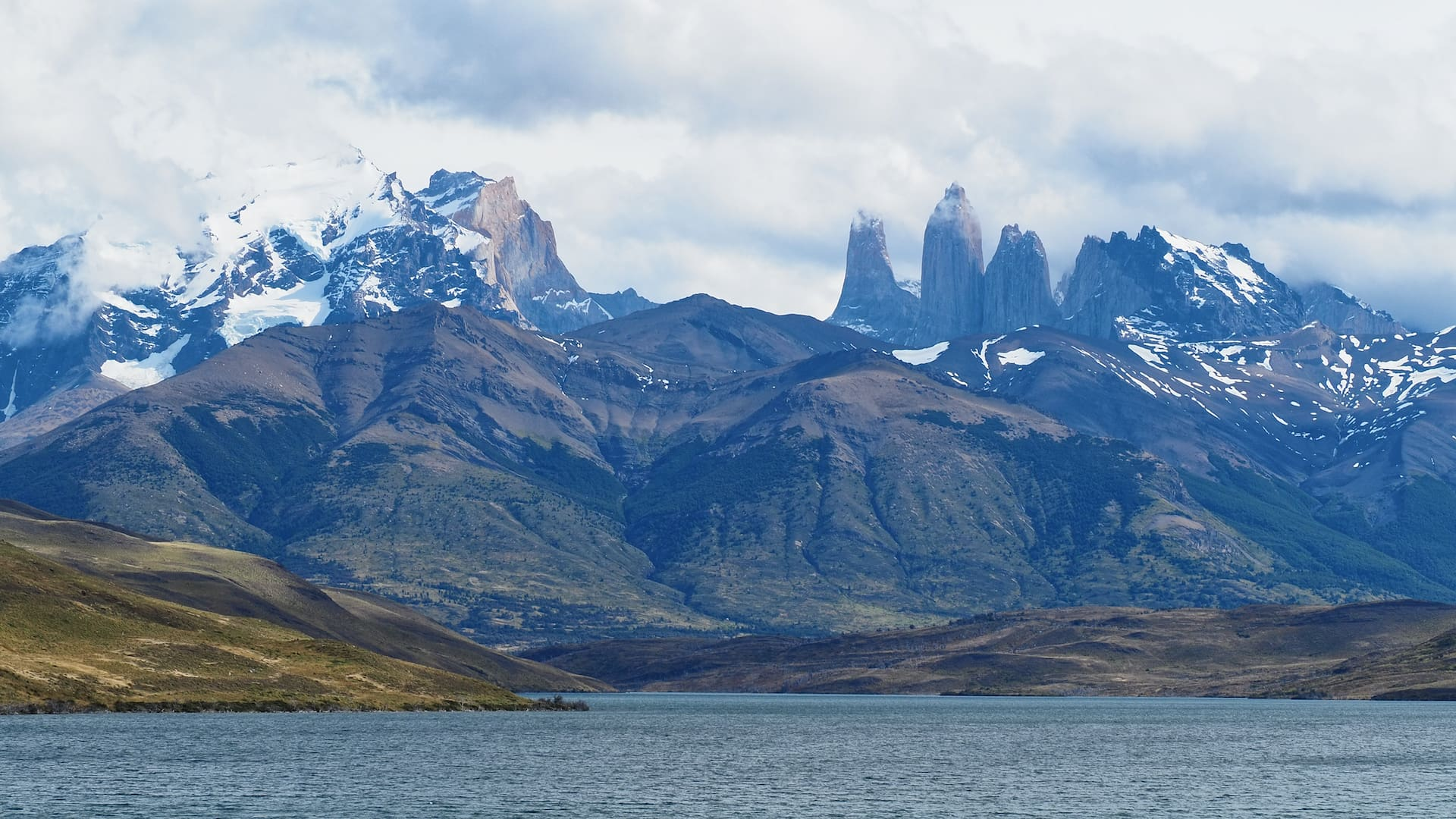 Laguna Azul and the Towers of Paine