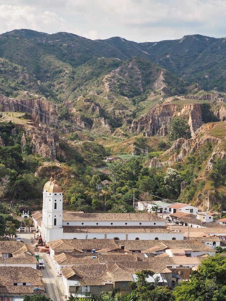 Heritage towns in Colombia - View of La Playa de Belen from Mirador Santa Cruz