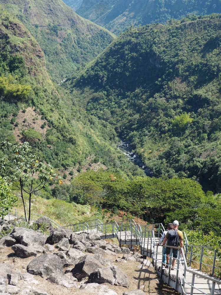 Steps leading to the viewpoint for La Chaquira