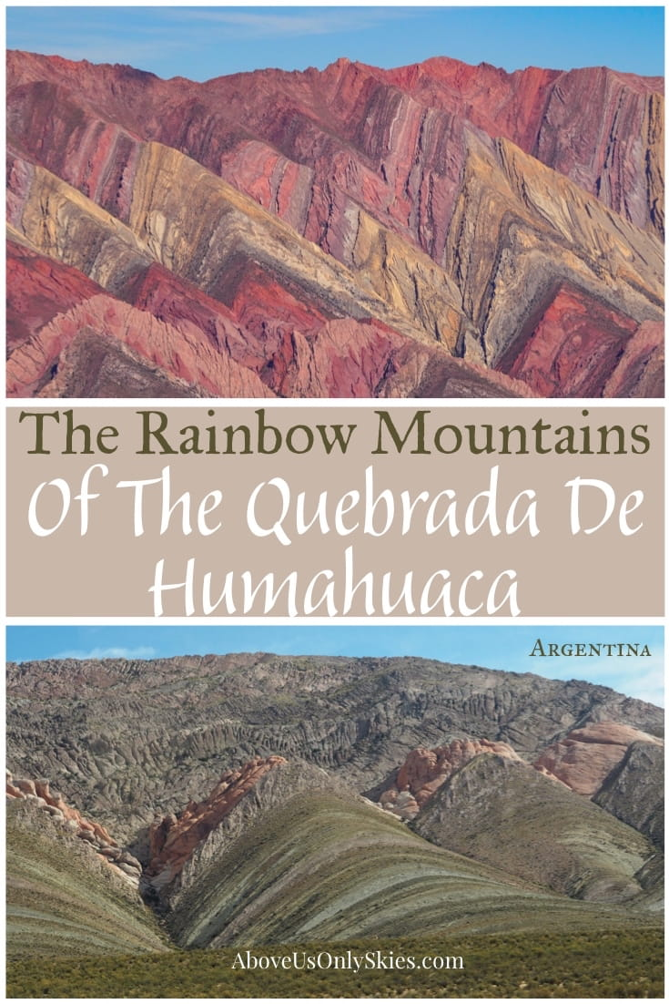 The Quebrada de Humahuaca in northwest Argentina is a staggering desert landScape of red rocks, huge cacti and multi-coloured rainbow mountains #argentinatravel #argentina #jujuy #colores #rainbowmountain #trekking #southamerica #southamericatravel #offthebeatenpath #inca #nature #travelinspiration #travelguide