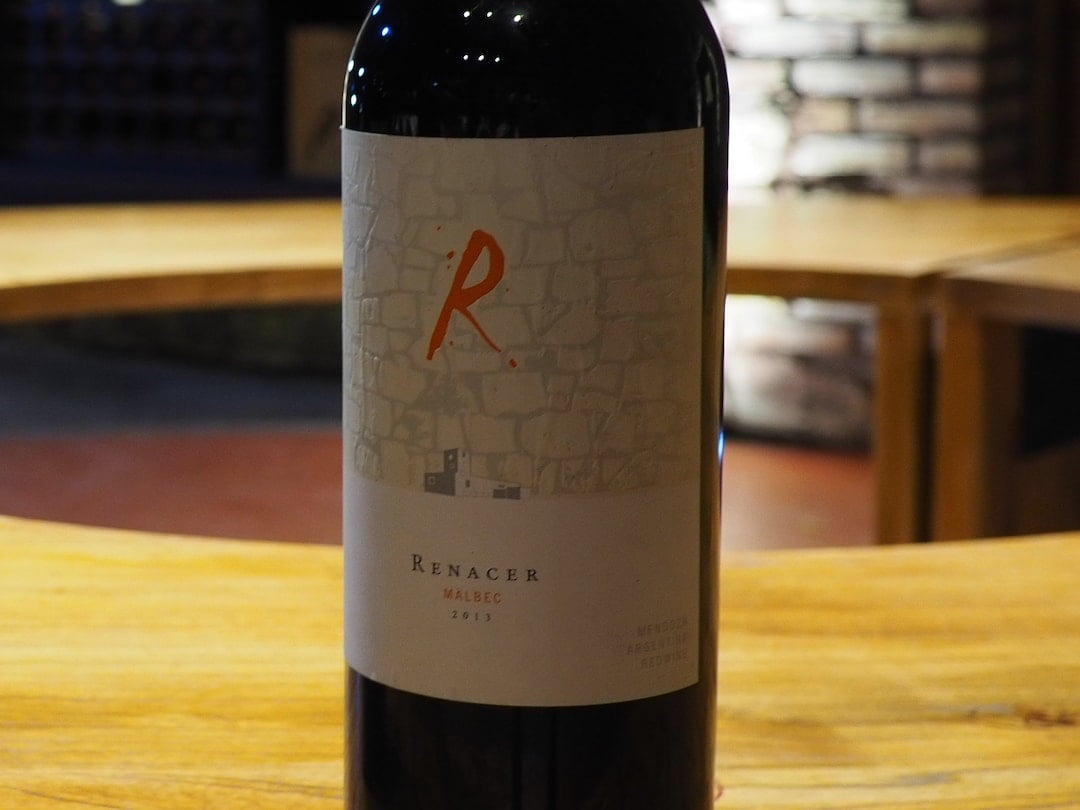 A bottle of ReNacer Malbec 2013
