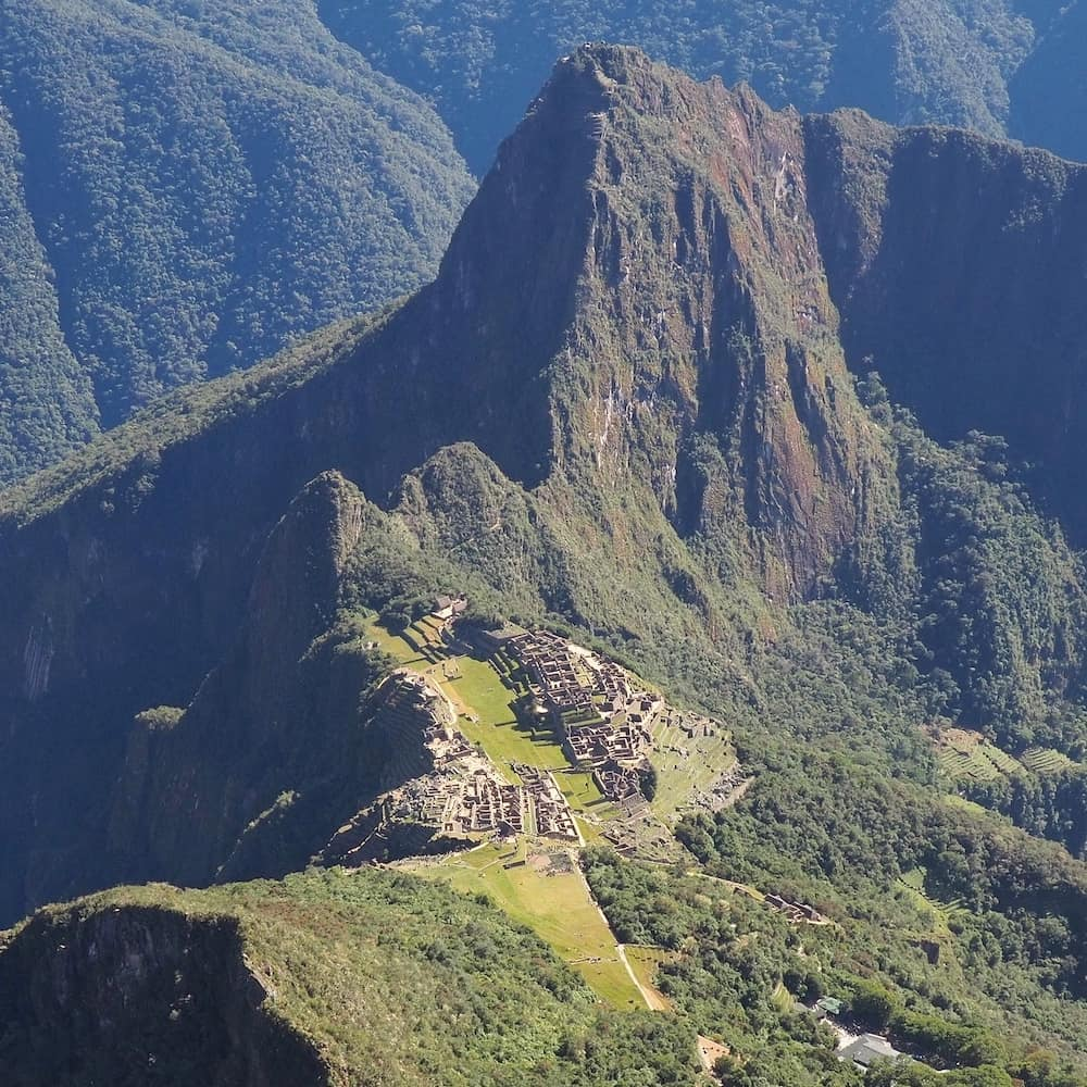 View of Machu Picchu from the mountain