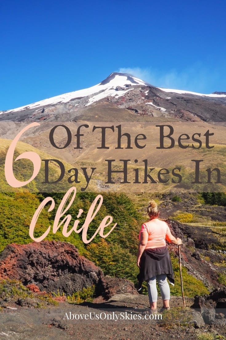 There are hundreds of day hikes in Chile to choose from. But here are six of our favourites, featuring deserts, glaciers, volcanoes and much more #chile #chiletravel #hikingtrails #southamerica #southamericatravel #cascadas #torresdelpaine #dayhike #travelinspiration #activelifestyle