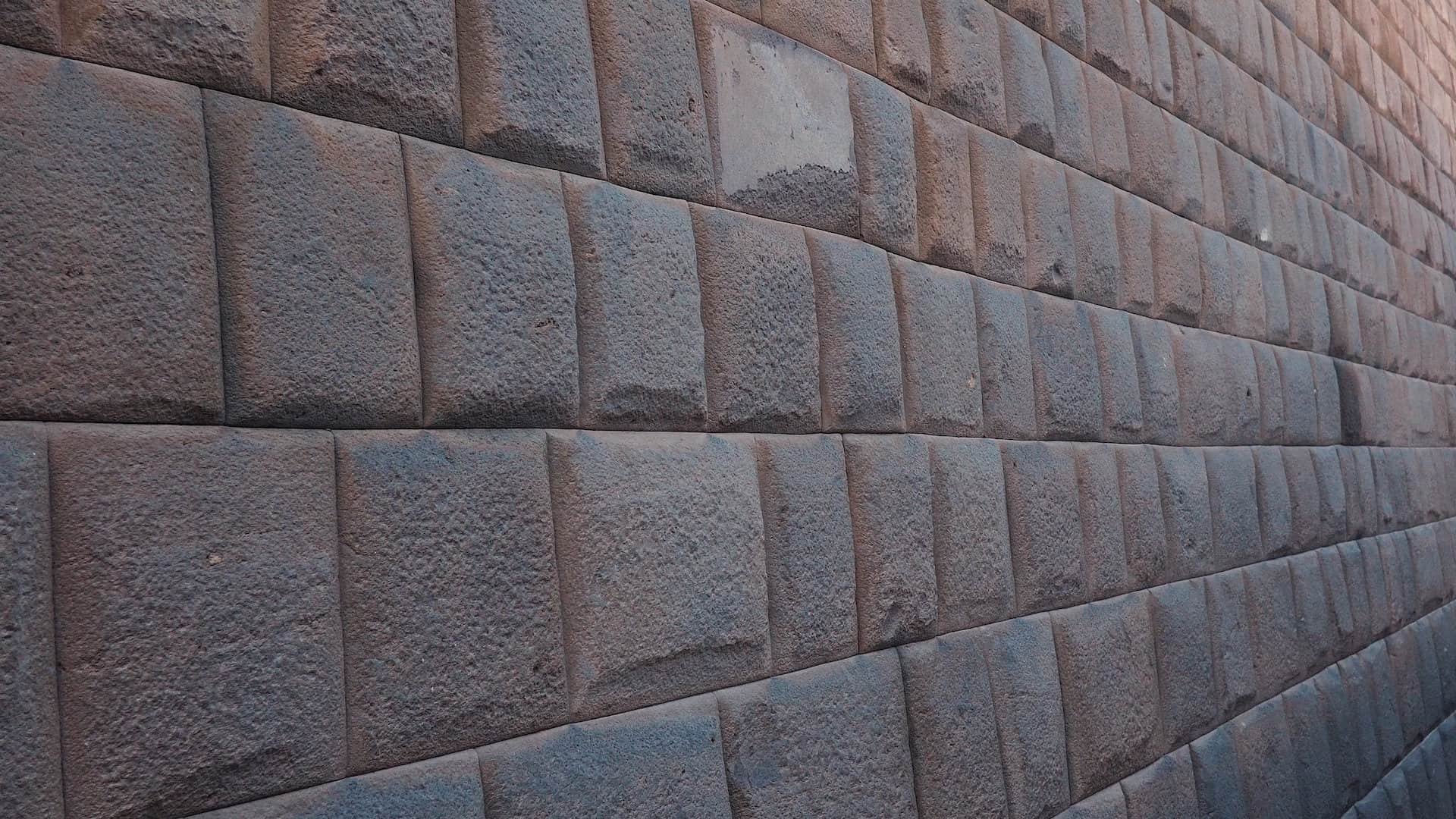 Large square stones in a wall