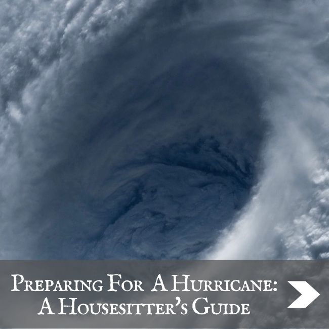 HOUSESITTING - Prepare for a hurricane