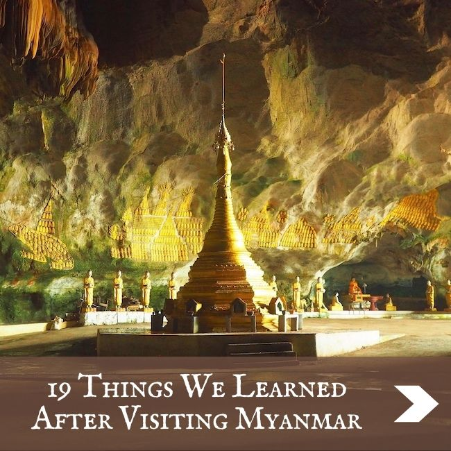 MYANMAR - Things we learned