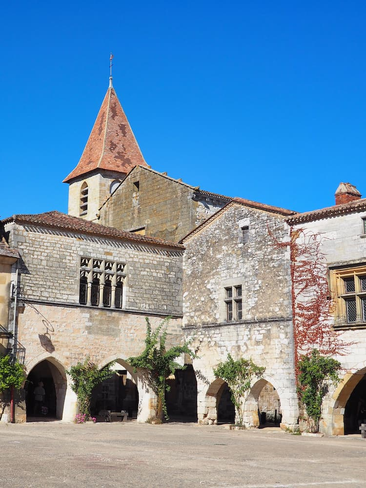 Stone buildings with multiple archways