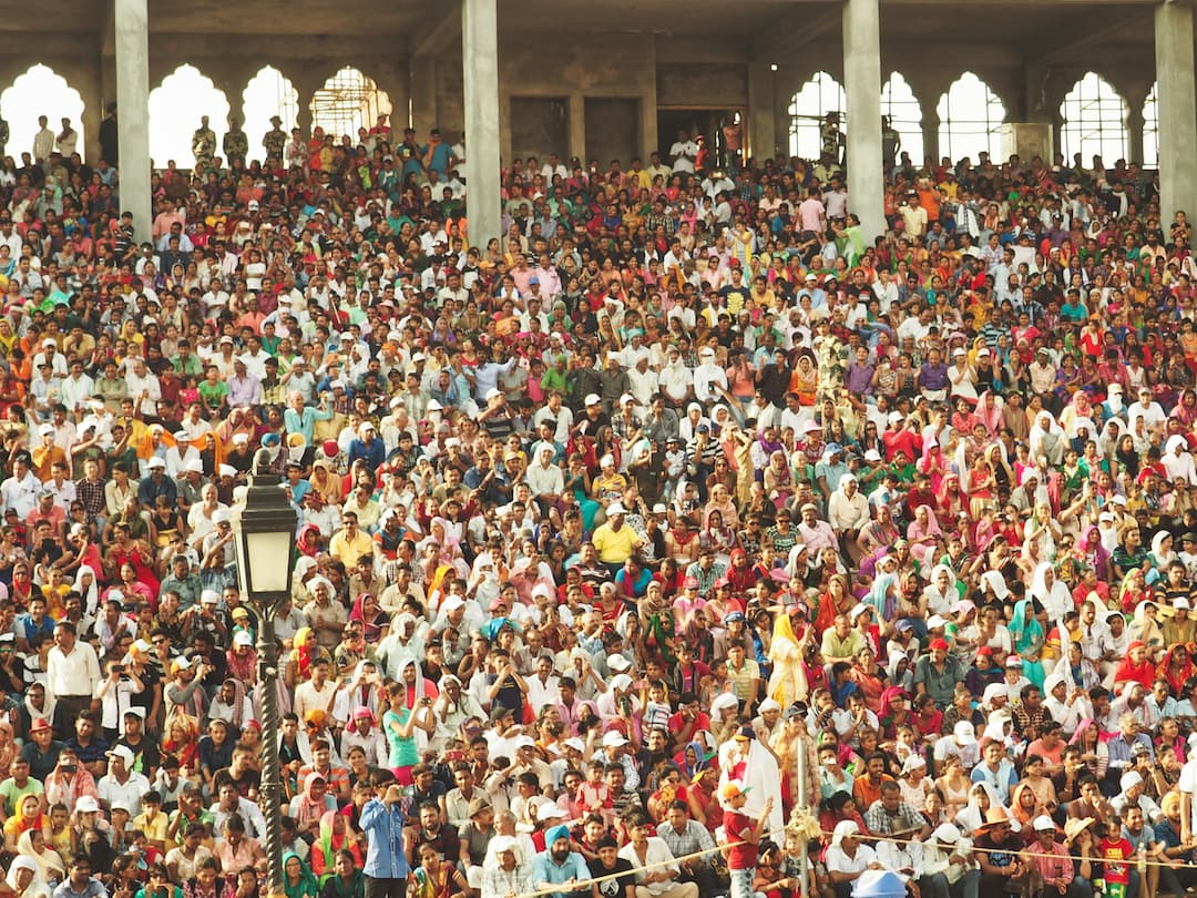 A crowded grandstand